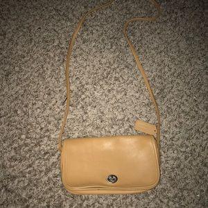 Coach Vintage Leather British Tan City Bag 9790 C